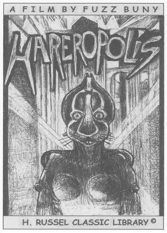Hares Art Print featuring the drawing Hareropolis by Herb Russel
