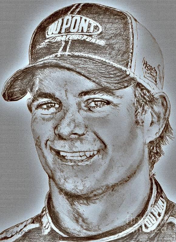 Jeff Gordon Art Print featuring the digital art Jeff Gordon In 2010 by J McCombie