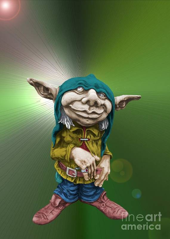 Fantasy Art Print featuring the photograph Karlchen The Goblin by Sandra Beikirch