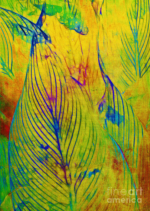Jungle Art Print featuring the photograph Leaves In The Jungle by Judi Bagwell