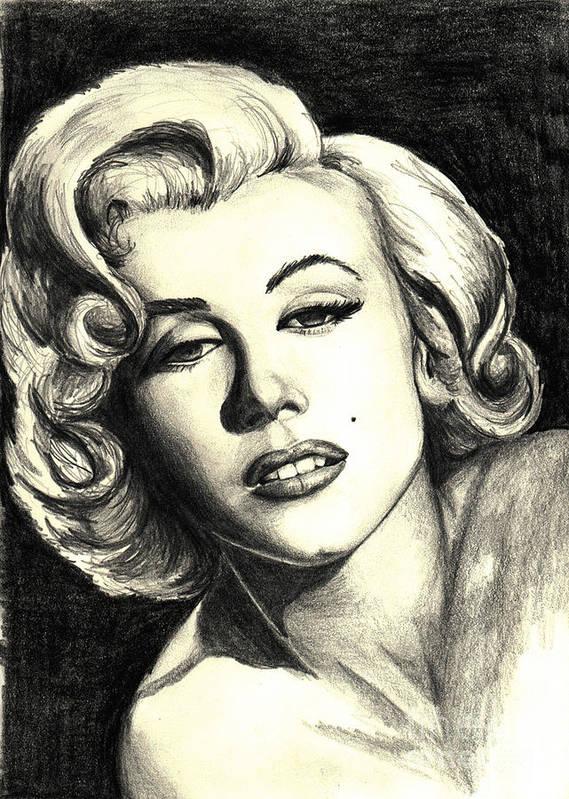 Marilyn Art Print featuring the painting Marilyn Monroe by Debbie DeWitt