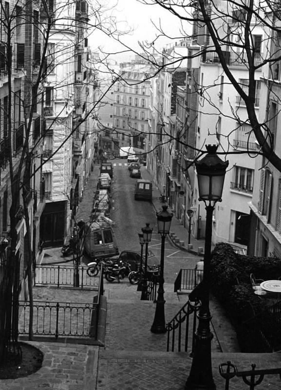 Paris Art Print featuring the photograph Monmatre Paris France by Rachel Burch