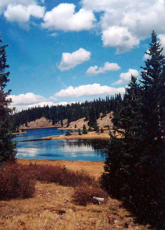 Art Print featuring the photograph New Mexico Lake by Linda Pope