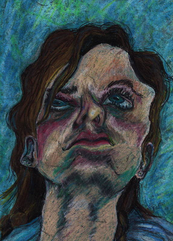 Face Art Print featuring the mixed media Reflection In Water by Bethany Compson-Bradford