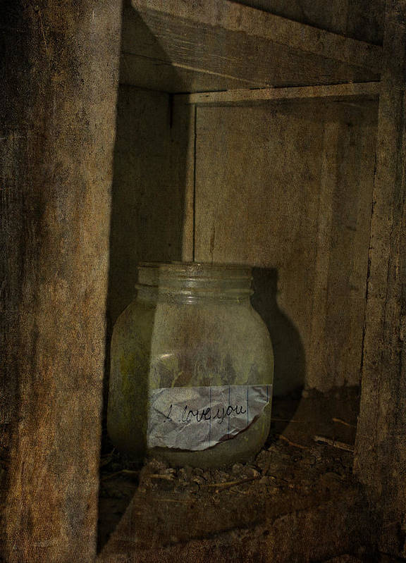 Jerry Cordeiro Photographs Framed Prints Art Print featuring the photograph The Endless Jar by Empty Wall