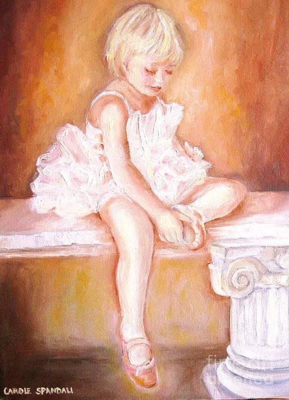 Ballerinas Art Print featuring the painting The Little Ballerina by Carole Spandau
