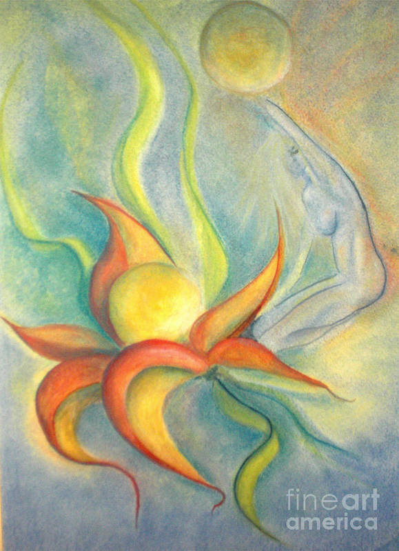 Flower Art Print featuring the painting Menopause by Vivian Mosley