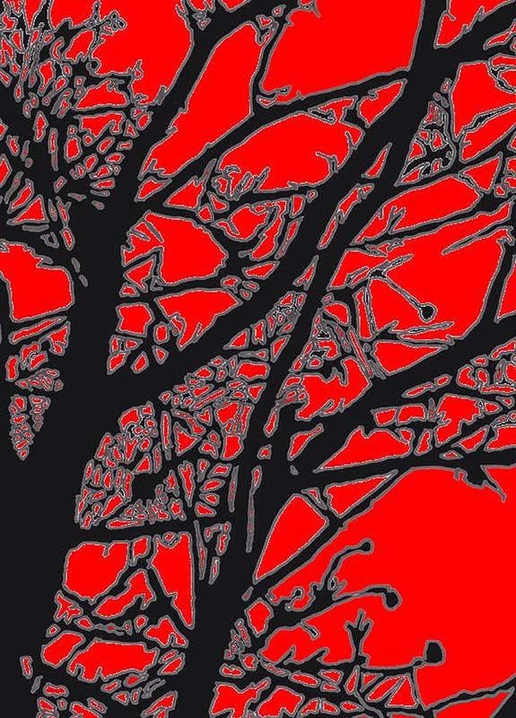Tree Art Print featuring the digital art Trees I by Jim Beam
