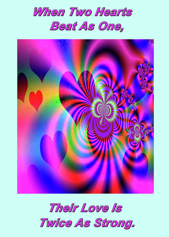 Greeting Cards Art Print featuring the digital art Heart Of Hearts by Mitchell Watrous