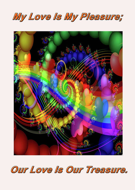 Greeting Cards Art Print featuring the digital art Serenading Hearts by Mitchell Watrous