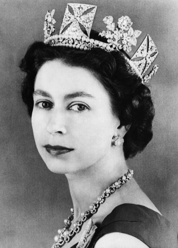 1950s Art Print featuring the photograph British Royalty. Queen Elizabeth II by Everett