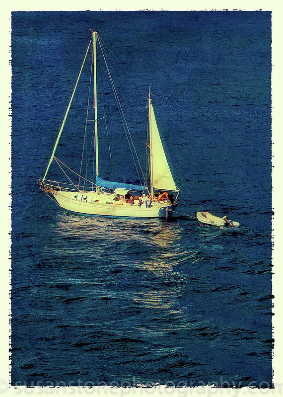 100 To 400 Art Print featuring the photograph A Peaceful Day For Sailing by Susan Stone