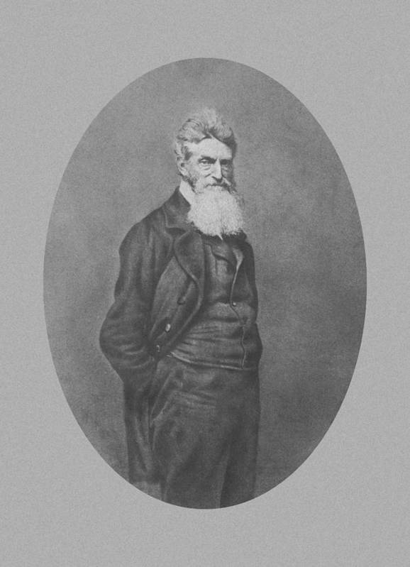 John Brown Art Print featuring the photograph Abolitionist John Brown by War Is Hell Store