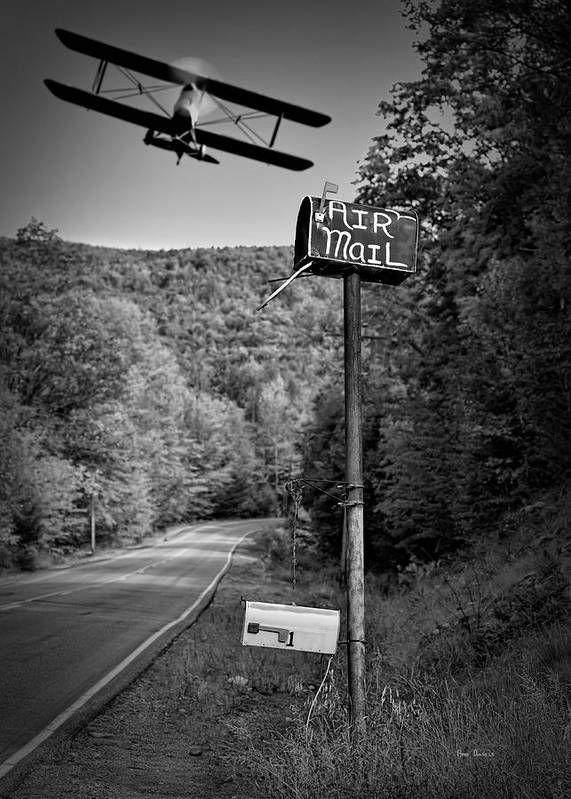 Landscape Art Print featuring the photograph Air Mail Delivery Maine Style by Bob Orsillo