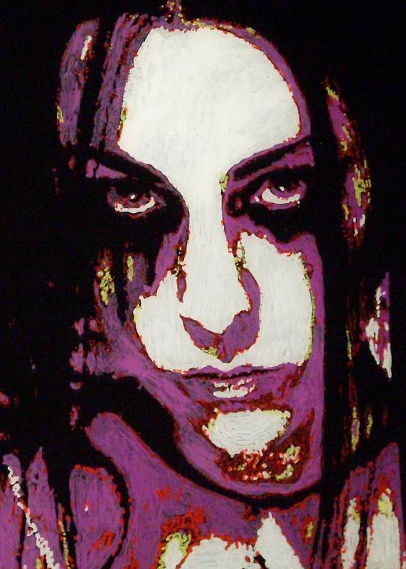 Evanescence Art Print featuring the painting Amy Lee by Grant Van Driest