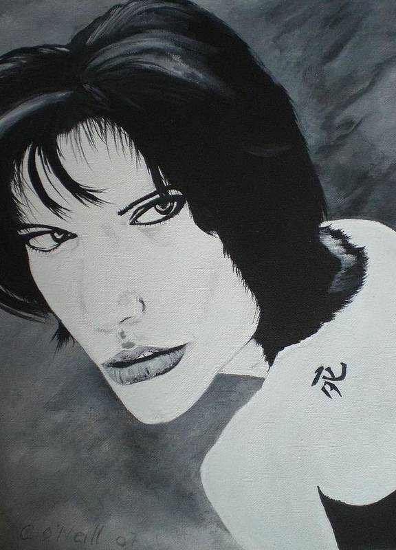 Angelina Art Print featuring the painting Angelina by Colin O neill
