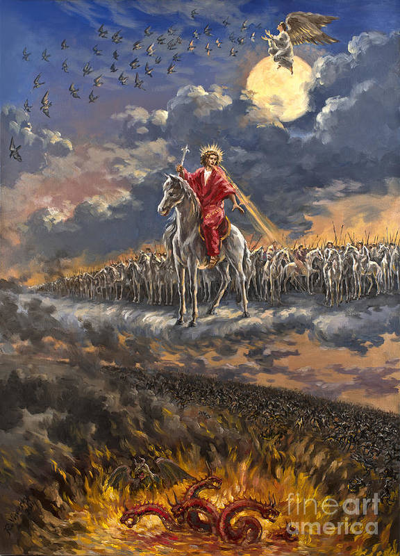 Armageddon The Rider On The White Horse Art Print By The