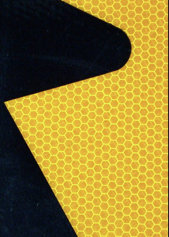 Abstract Art Print featuring the photograph Arrow On Yellow by Derrick Anderson