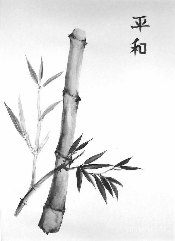 Art Print featuring the painting Bamboo by Sibby S