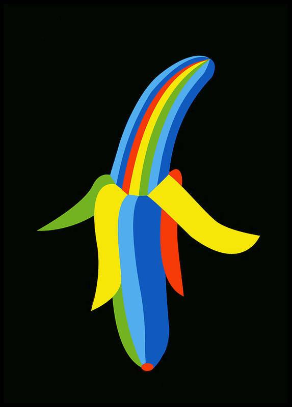 Banana Art Print featuring the digital art Banana by Asbjorn Lonvig