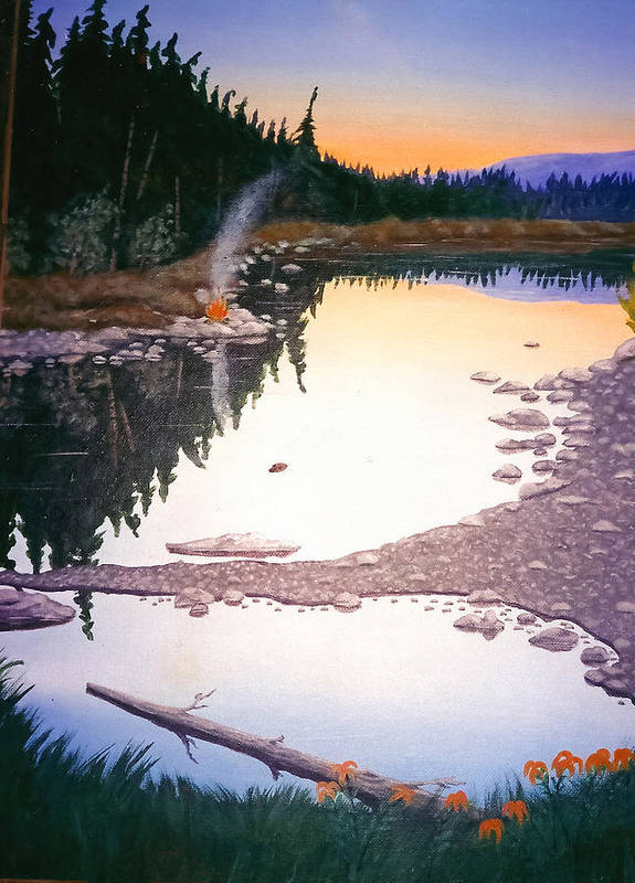 Nature Art Print featuring the painting Beaver Creek by Arnold Isbister
