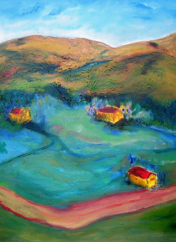 Landscape Art Print featuring the painting Beit Shemesh by Suzanne Udell Levinger