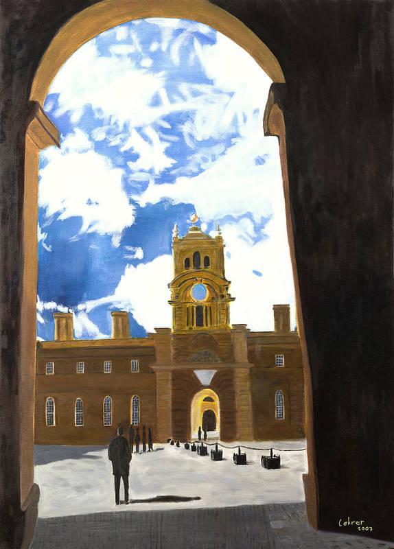 Churchill Art Print featuring the painting Blenheim Palace England by Avi Lehrer