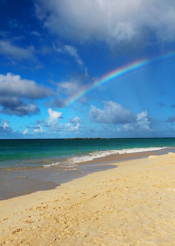 Rainbow Art Print featuring the photograph Blessed With A Rainbow by Kerri Ligatich