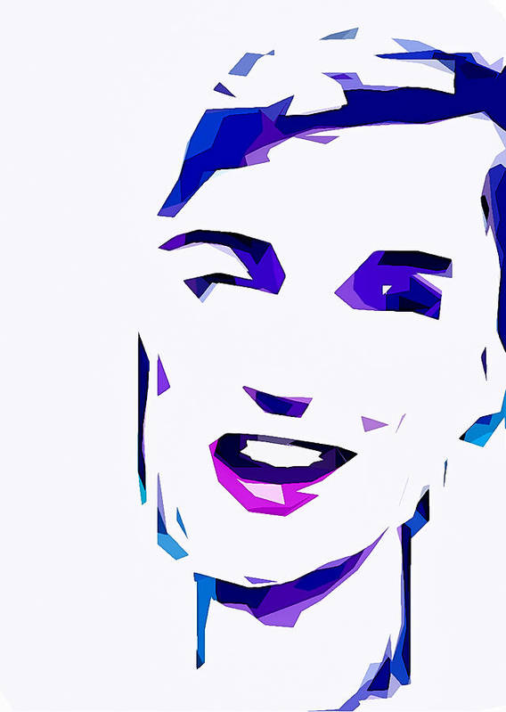 Art Print featuring the digital art Blur Girl 13 by Chris Peters