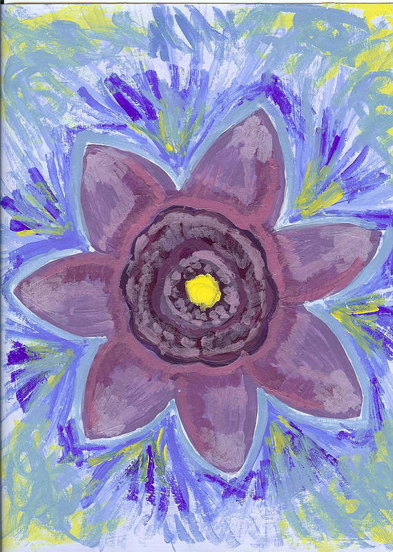 Flower Art Print featuring the painting Cashmere by Laura Lillo