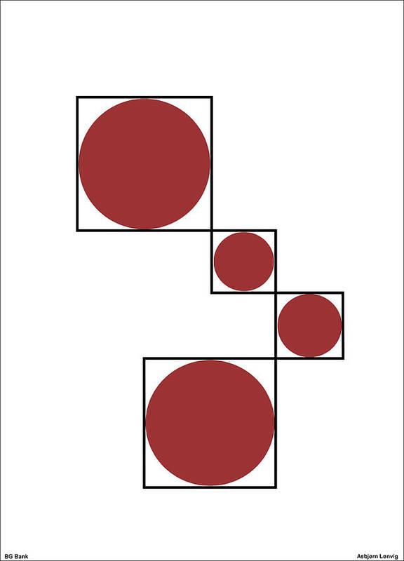 Circles Art Print featuring the digital art Circles by Asbjorn Lonvig