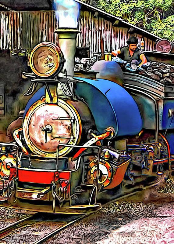 Toy Train Art Print featuring the photograph Darjeeling Toy Train by Steve Harrington