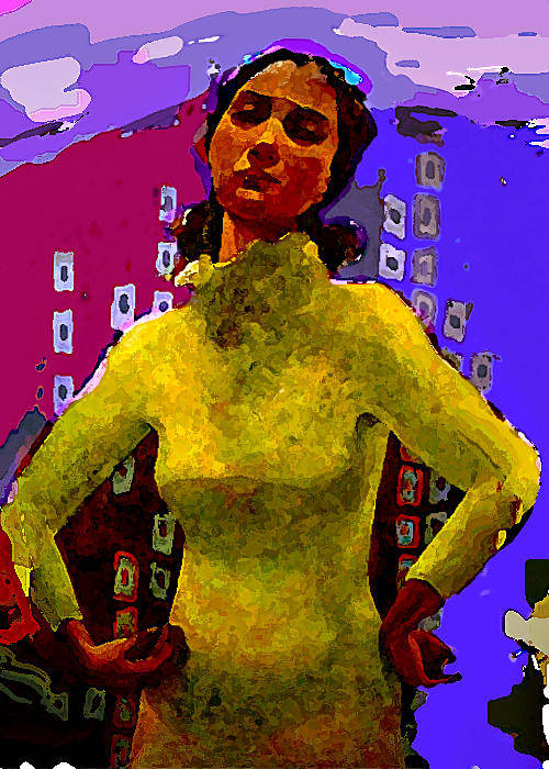 Woman Art Print featuring the painting Departure by Noredin Morgan