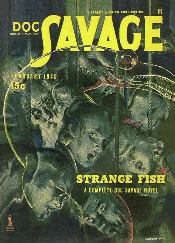 a84ea73b Comic Art Print featuring the drawing Doc Savage Strange Fish by Conde Nast