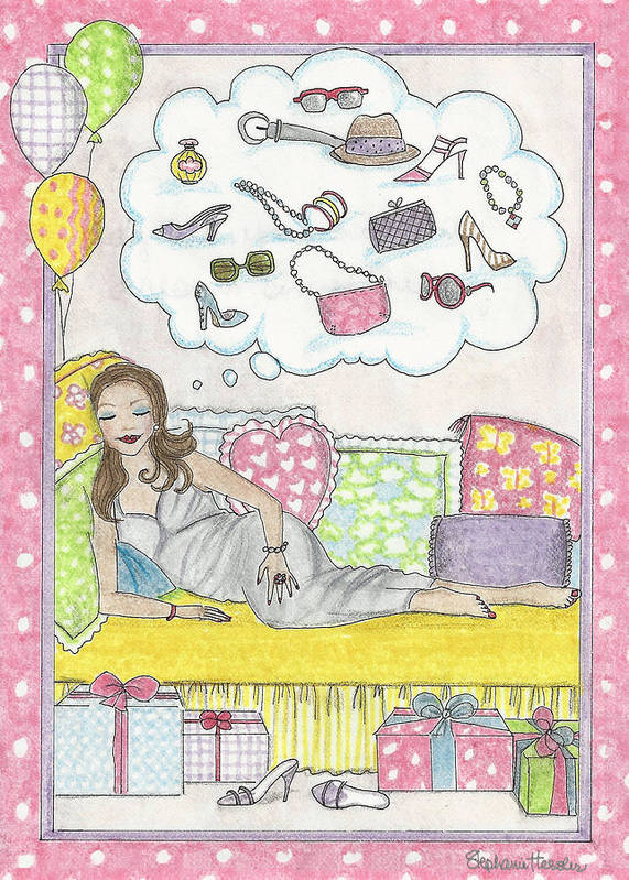 Dreams Art Print featuring the mixed media Dreams by Stephanie Hessler