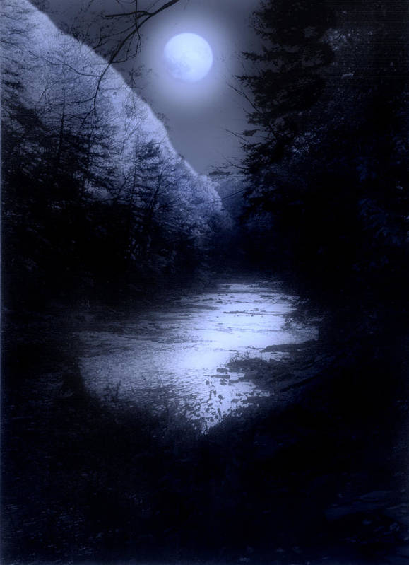 Moon Art Print featuring the photograph Eerie Tranquility by Kenneth Krolikowski
