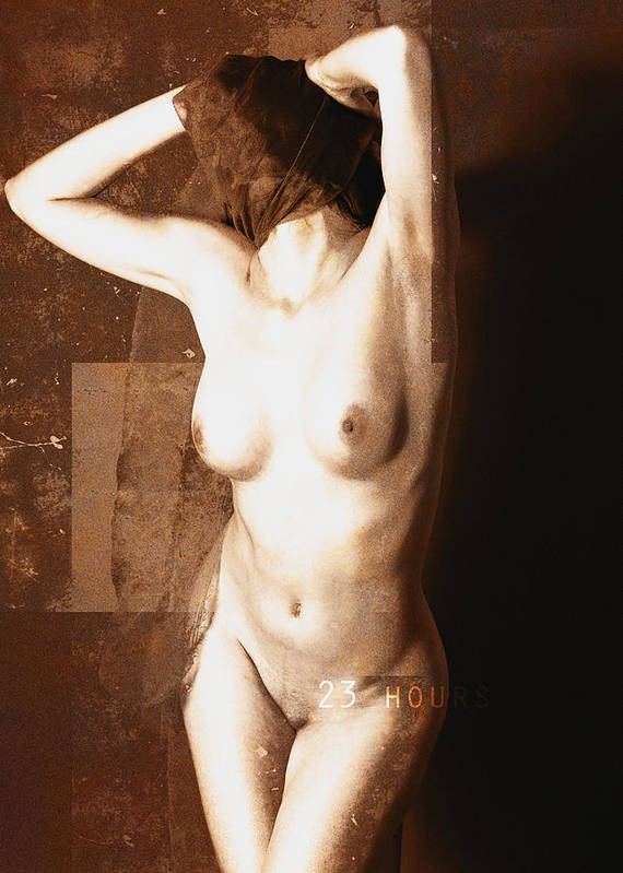 Erotic Art Art Print featuring the photograph Erotic Art 23 Hours by Falko Follert