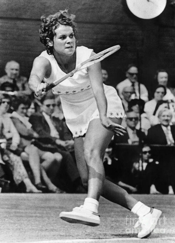 1972 Print featuring the photograph Evonne Goolagong (1951- ) by Granger