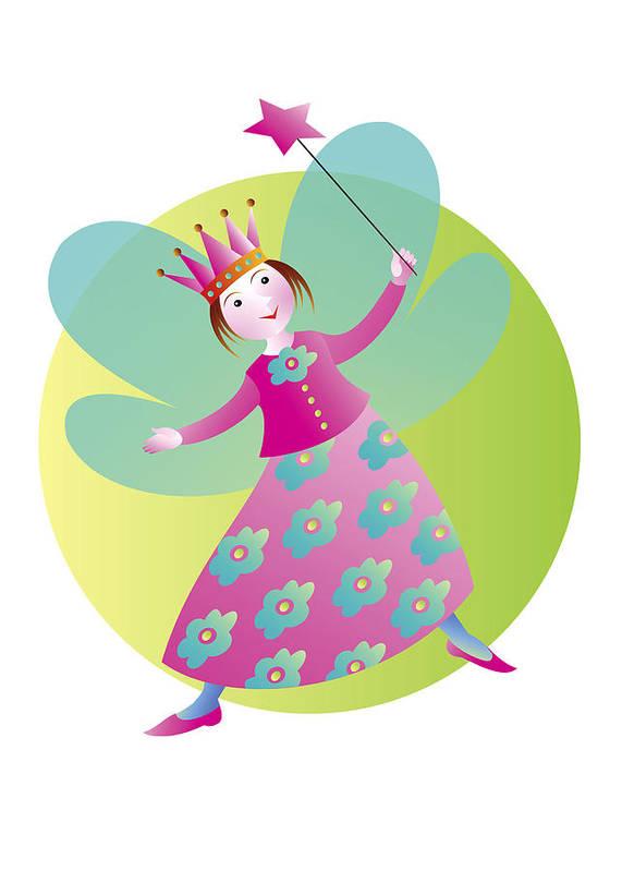 Fairy Tale Art Print featuring the digital art Fairy 5 by Louise Methe