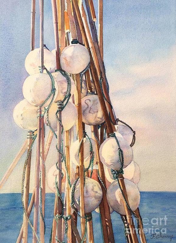 Flotteur Art Print featuring the painting Flotteurs by Francoise Chauray