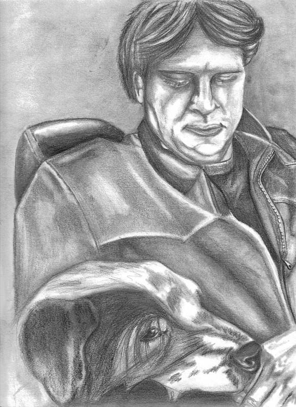 Gary Art Print featuring the drawing Gary And Blue by Crystal Suppes