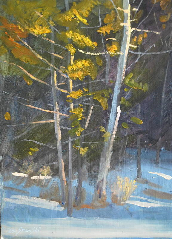 Berkshire Hills Paintings Art Print featuring the painting In The Lime Light by Len Stomski