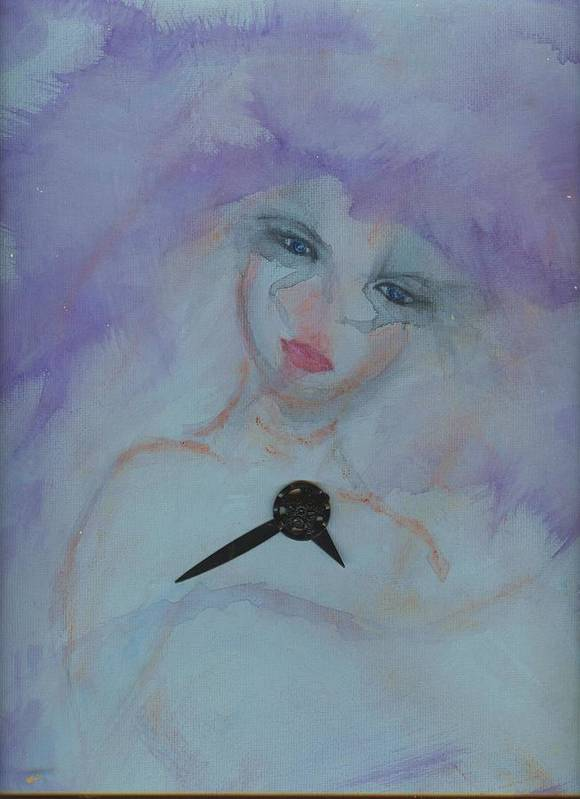 Insomnia Art Print featuring the painting Insomnia by Cathy Minerva
