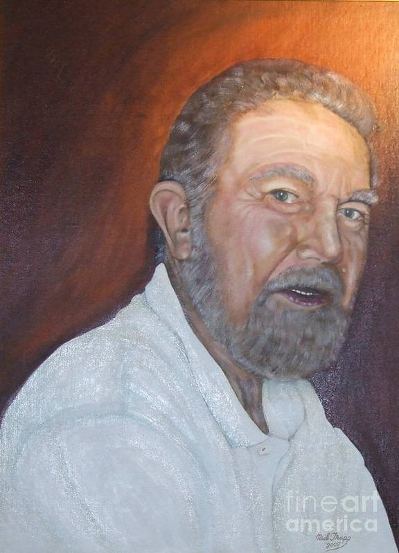 Portrait Art Print featuring the painting John Carlton by Neil Trapp