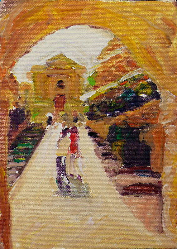 Minature Art Print featuring the painting La Dolce Vita by Doranne Alden