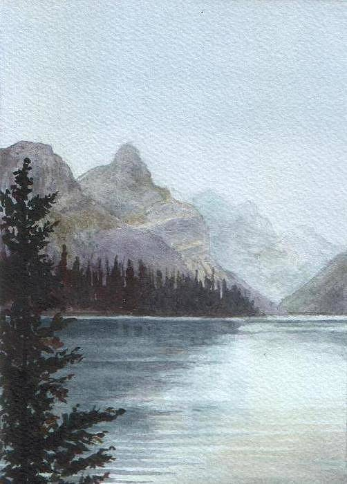 Watercolor Art Print featuring the painting Lake Helevorn by Brenda Owen