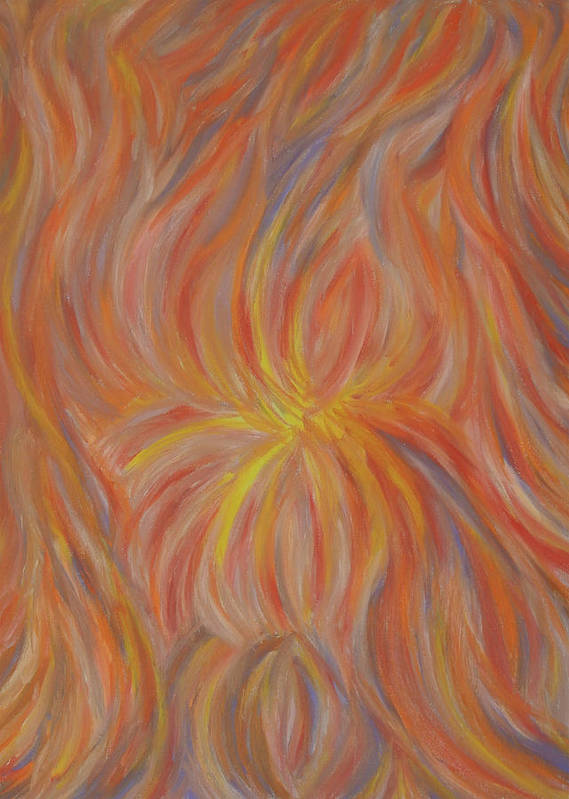 Abstract Art Print featuring the painting Life, Light, And Birth by Adora Miller