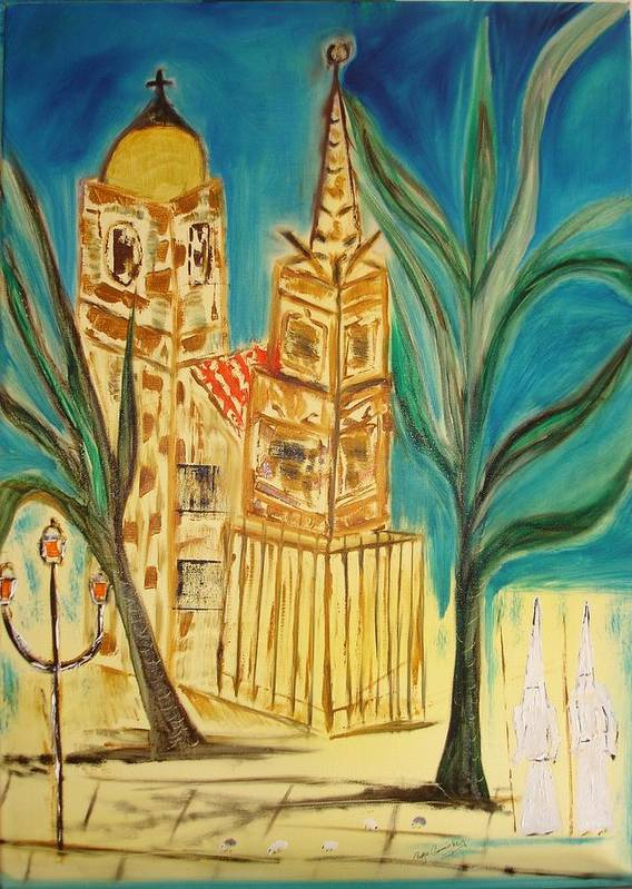 Spain Art Print featuring the painting Malaga by Roger Cummiskey