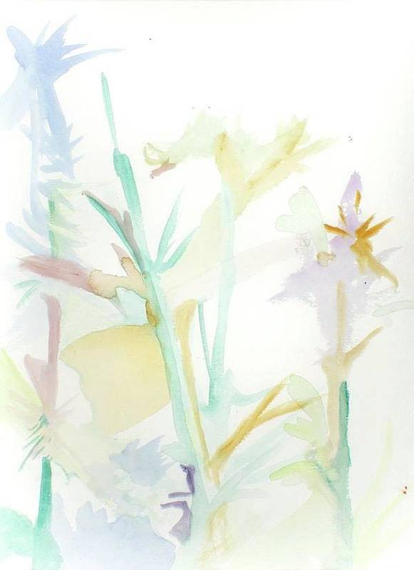 Morning Flowers Art Print featuring the painting Mixed Stalks Morning Flowers by James Christiansen