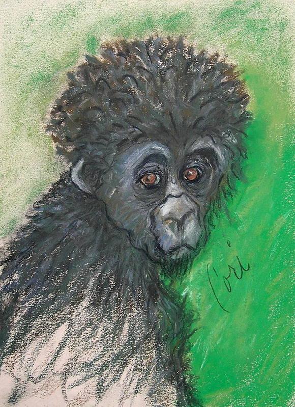 Monkey Art Print featuring the drawing Monkey Business by Cori Solomon